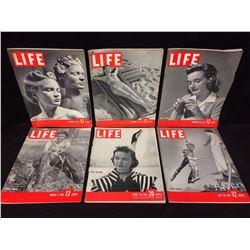 VINTAGE LIFE MAGAZINE LOT (PARIS FASHIONS, CIRCUS FAMILY & MORE)