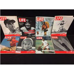 VINTAGE LIFE MAGAZINE LOT (ARTHUR ASHE, EMILE ALLAIS & MORE)