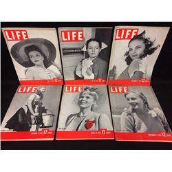 VINTAGE LIFE MAGAZINE LOT (FLOPPY HATS, ARMY NURSE & MORE)