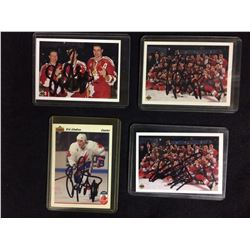 ERIC LINDROS AUTOGRAPHED HOCKEY CARD LOT