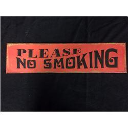 """""""PLEASE NO SMOKING"""" TIN SIGN"""