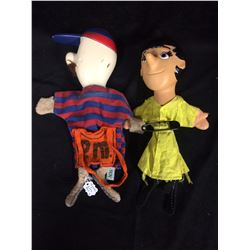 VINTAGE AGS HAND PUPPET LOT (MOONEY & ZOEY)