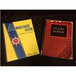 2 WORLD STAMP BOOKS W/ STAMPS