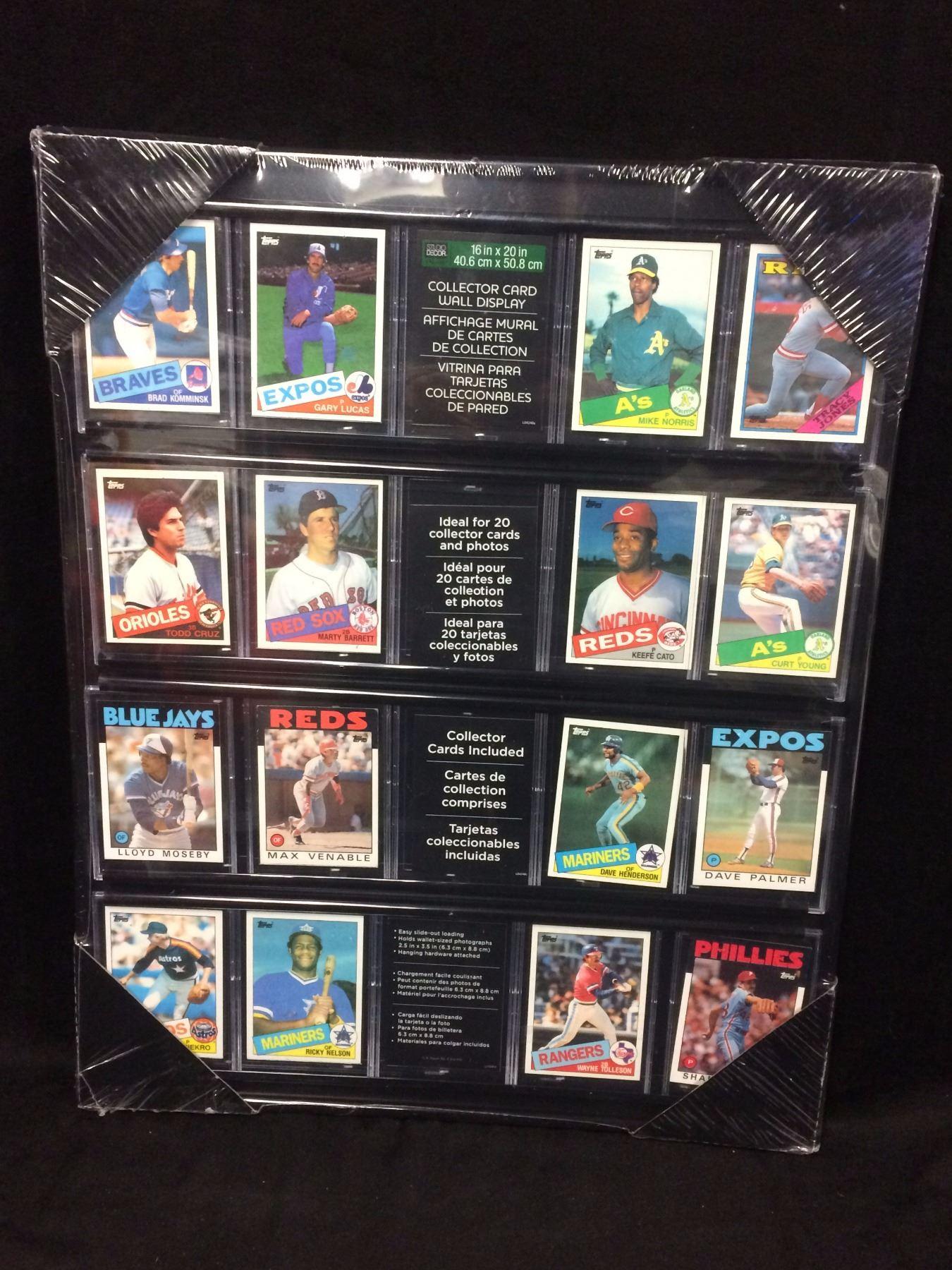 Baseball Trading Cards 16 X 24 Framed Display