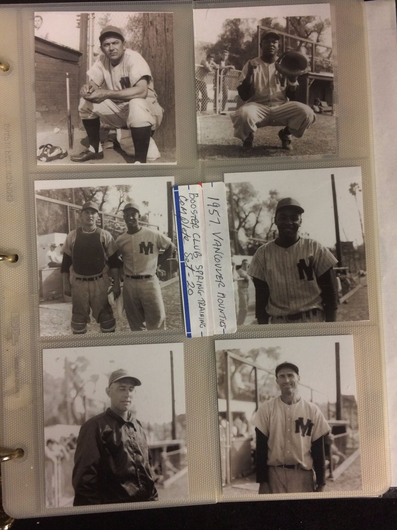 1957 Pcl Mounties Booster Club Baseball Cards Spring Training Set 20 25