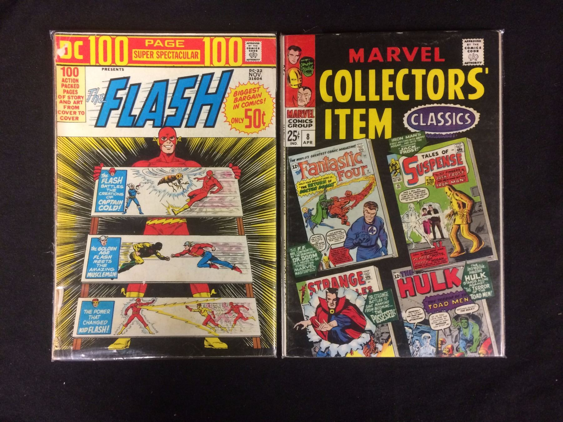 FLASH AND COLECTORS ITEM CLASSIC COMIC BOOK LOT