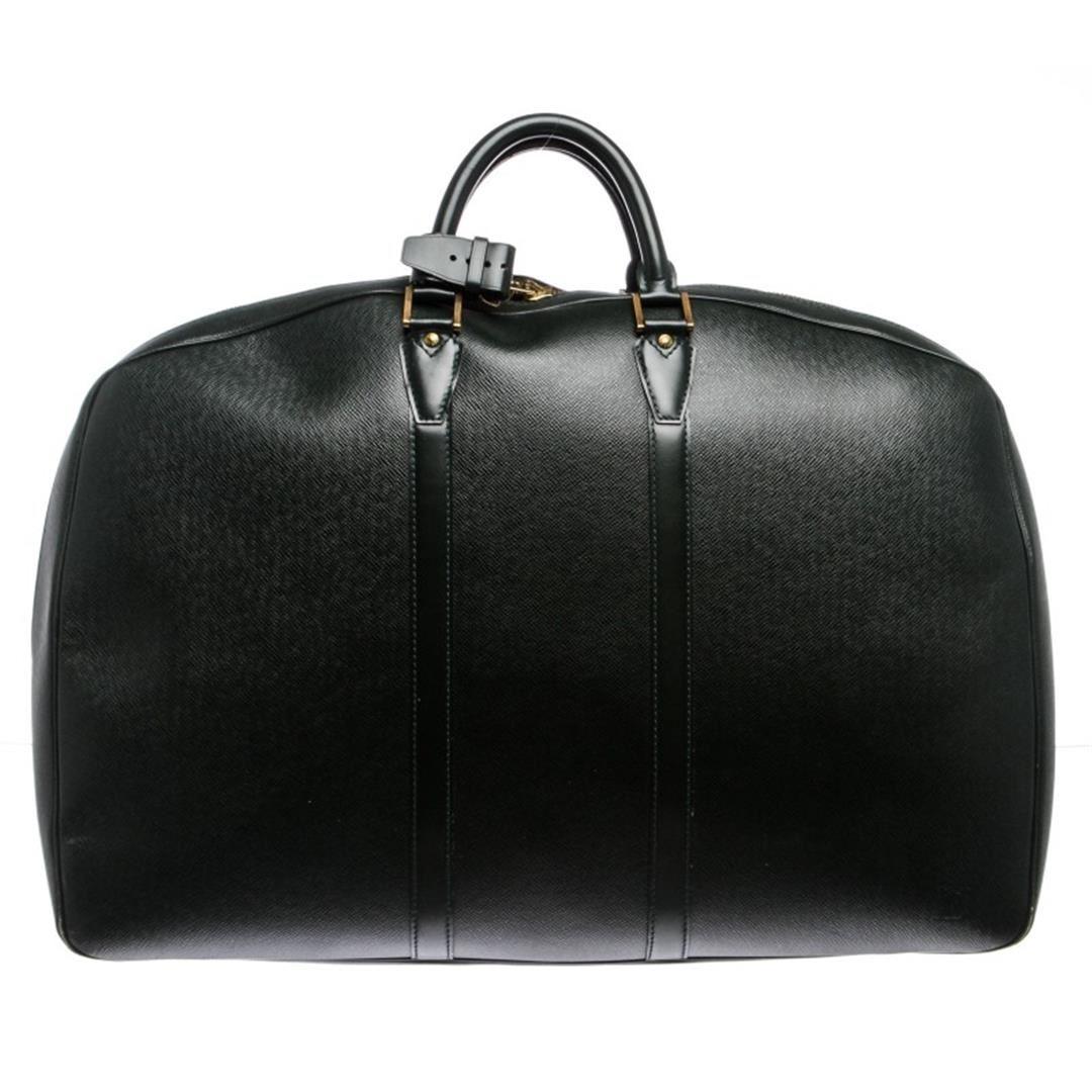 8579c2fd481a Image 1   Louis Vuitton Green Taiga Leather Helanga Travel Bag Luggage ...