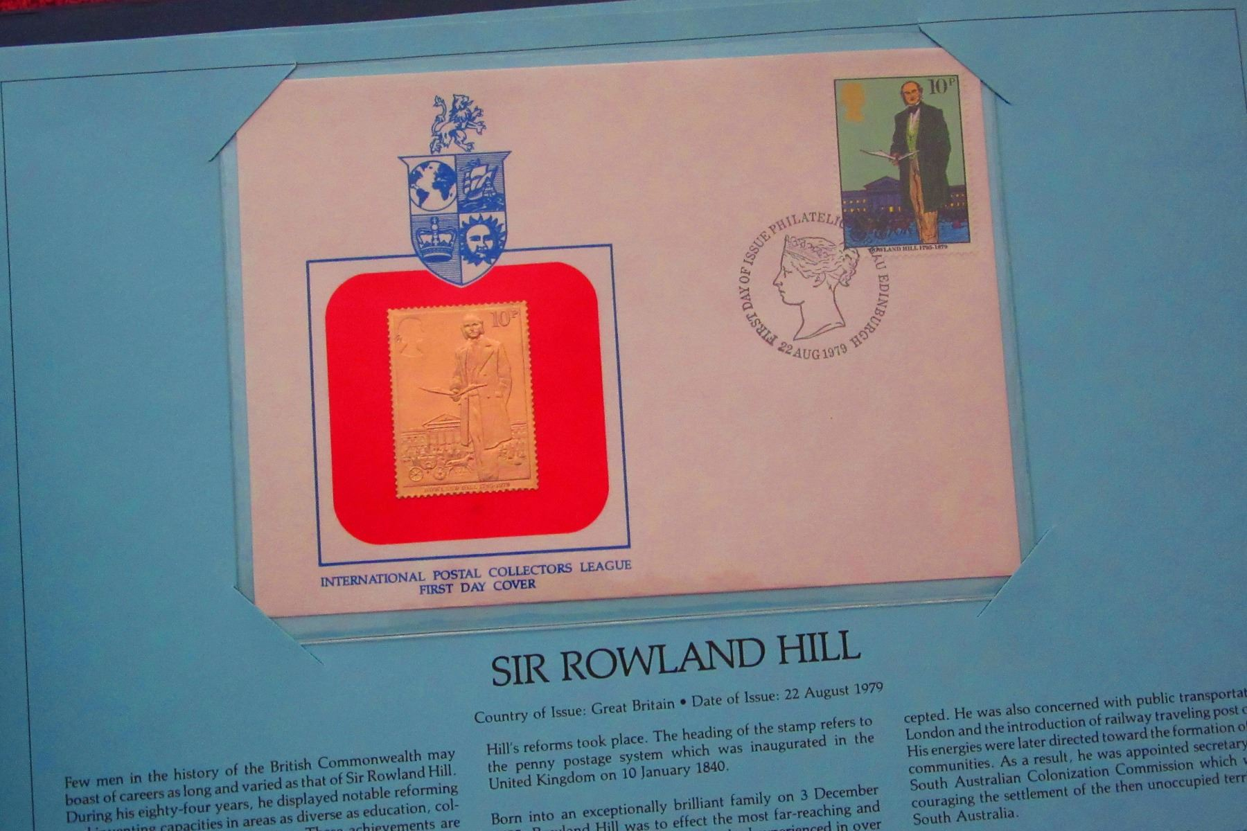 THE ROYAL INTERNATIONAL GOLD COLLECTION OF FIRST DAY COVERS