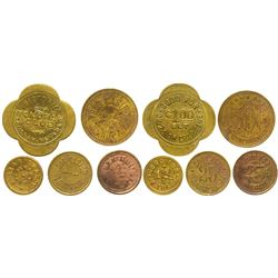 Five Nevada Tokens (Tonopah and Blair)