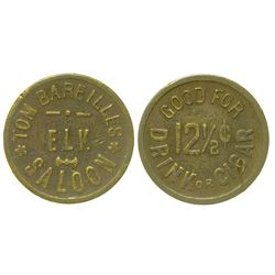 Elk Saloon Token (Cherry Creek, Nevada)