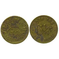Merchants Hotel Token (Columbia, Nevada)