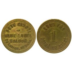 Blue Label Saloon Token (Delamar, Nevada)