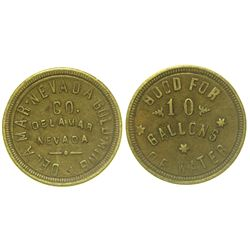 Good For 10 Gallons of Water Token, Delamar Nevada Gold Mining Co.