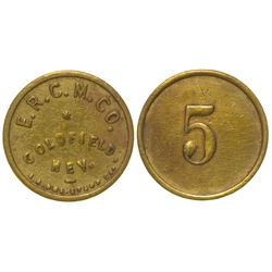E.R.C.M. Co. Token (Goldfield, Nevada)