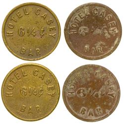 Hotel Casey Bar Tokens (Goldfield, Nevada)