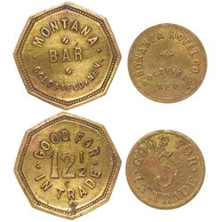Montana Bar/ Bonanza Hotel Tokens (Goldfield, Nevada)