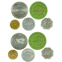 Five Las Vegas Tokens