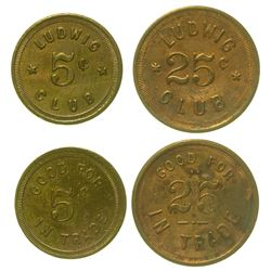 Ludwig Club Tokens (Ludwig, Nevada)