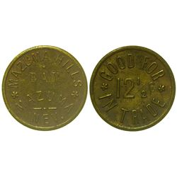 Mazuma Hills Bar Token (Mazuma, Nevada)