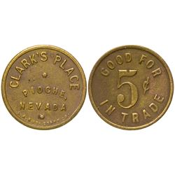 Clark's Place Token (Pioche, Nevada)