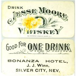 Bonanza Hotel Drink Coupon (Silver City, Nevada)
