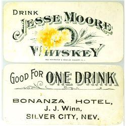Bonanza Hotel Drink Coupon (Silver City, Nevada)