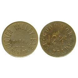 Clover Valley Bar Token (Tobar, Nevada)