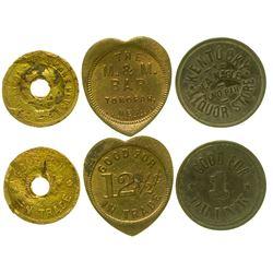 Three Rare Tonopah Tokens