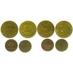 Four Winnemucca, Nevada Tokens