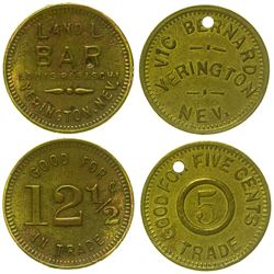 Two Yerington, Nevada Tokens