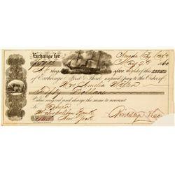1860 Nevada City Second of Exchange