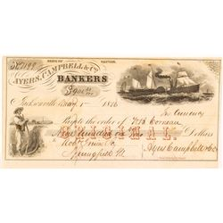 Ayres, Campbell & Company 'ORIGINAL' Pictorial Check, 1856
