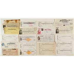 Virginia City, Montana Check Collection (incl. Rare RNs)
