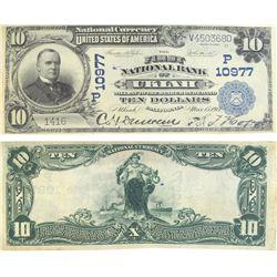 First National Bank Ukiah $10, Large Size