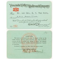 Yosemite Valley Railroad Co. Pass, 1918