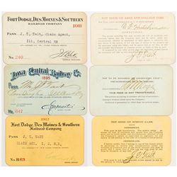 Three Iowa Railroad Passes