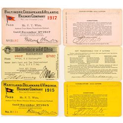 Three Maryland Railroad Passes