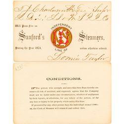 Sanford's Steamers 1873 Steamer Pass