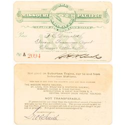 Missouri Pacific Railway Company 1888 Pass
