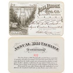 Fall Brook Coal Company 1886 Pass with Dramatic Bridge Vignette