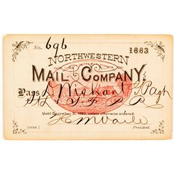 Northwestern Mail Company Pass with a Great Red Stage Vignette