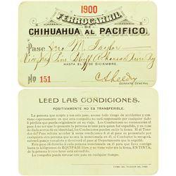 Ferrocarri de Chihuahua al Pacifico Railroad 1900 Pass