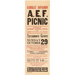 Combat Division A.E.F. Picnic Broadside (Pacific Electric Railway)