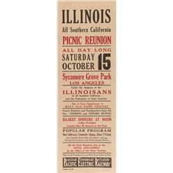 Illinois Picnic Reunion Broadside (Pacific Electric Railway)