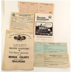Nevada County RR Ephemera
