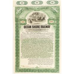 Ocean Shore Railway Rare Bond, 1905