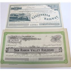 2 Rare Northern California Railroad Stocks