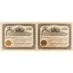 Denver - Steamboat Construction Company Stock Certificates (Railroad)