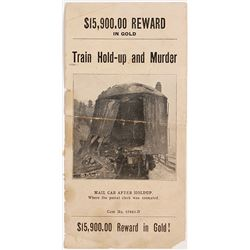 "Mini Wanted Poster for 1923 Oregon Southern Pacific Train Robber, ""The Siskiyou Massacre"""