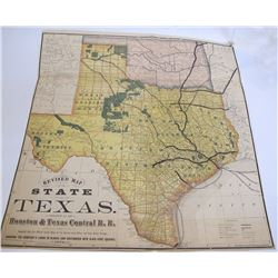 1876 Texas Railroad Map